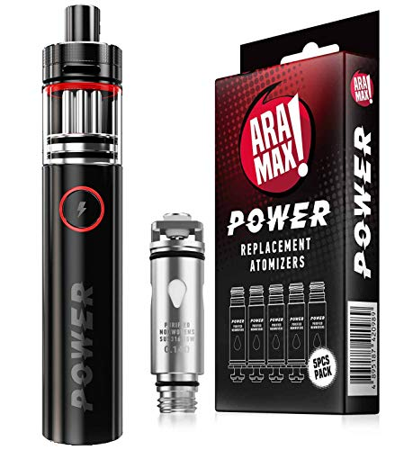 ARAMAX BUNDLE - POWER TUBE 5000 + VERDAMPFERKÖPFE (5ER PACK)