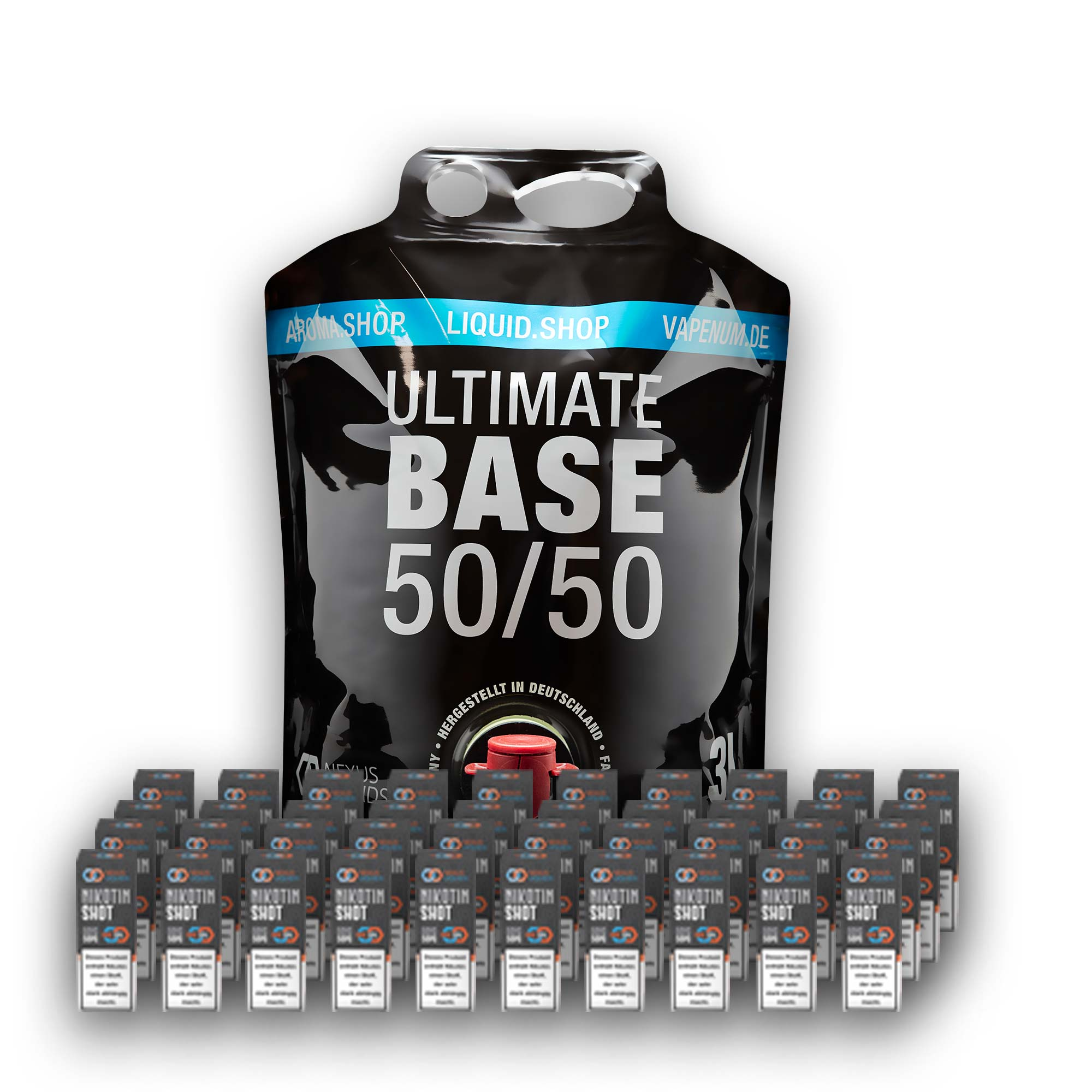3L Ultimate Base (50/50) inklusive 40 Nik Shots 18mg