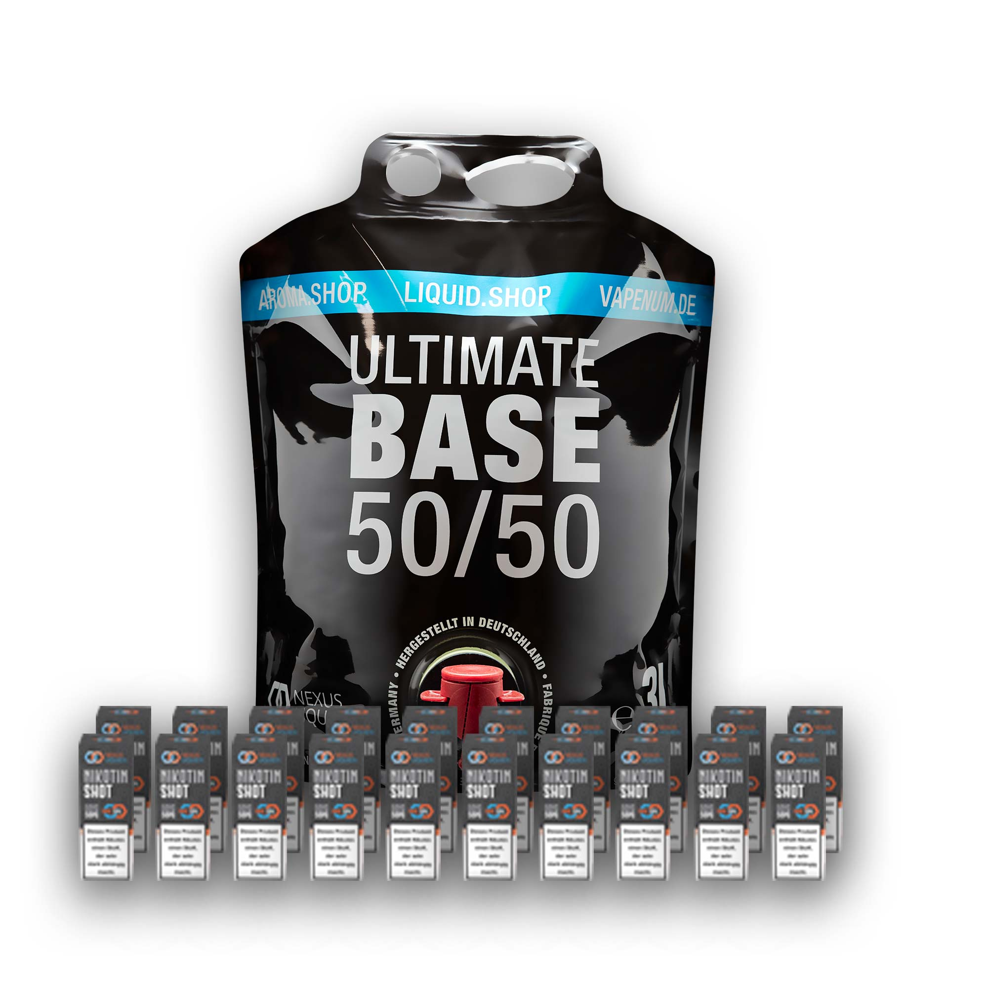3L Ultimate Base (50/50) inklusive 20 Nik Shots 18mg