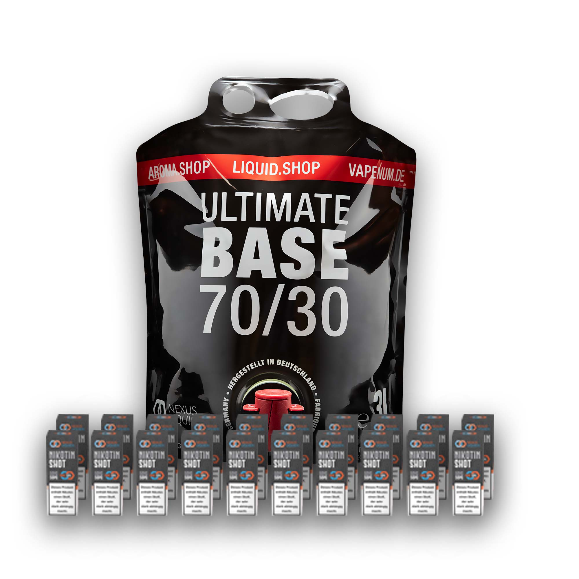 3L Ultimate Base (70/30) inklusive 20 Nik Shots 18mg