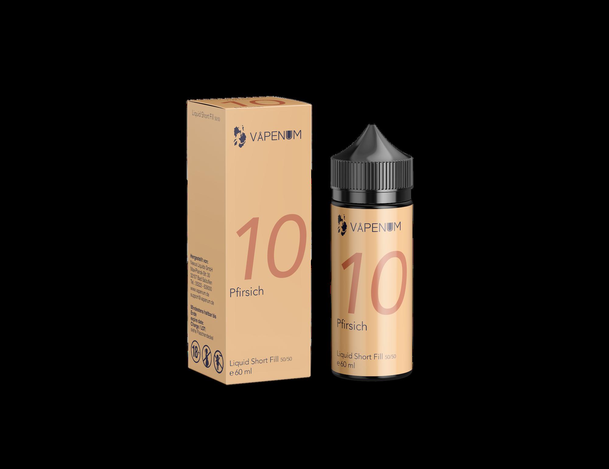 Vapenum Shortfill 10 - Pfirsich