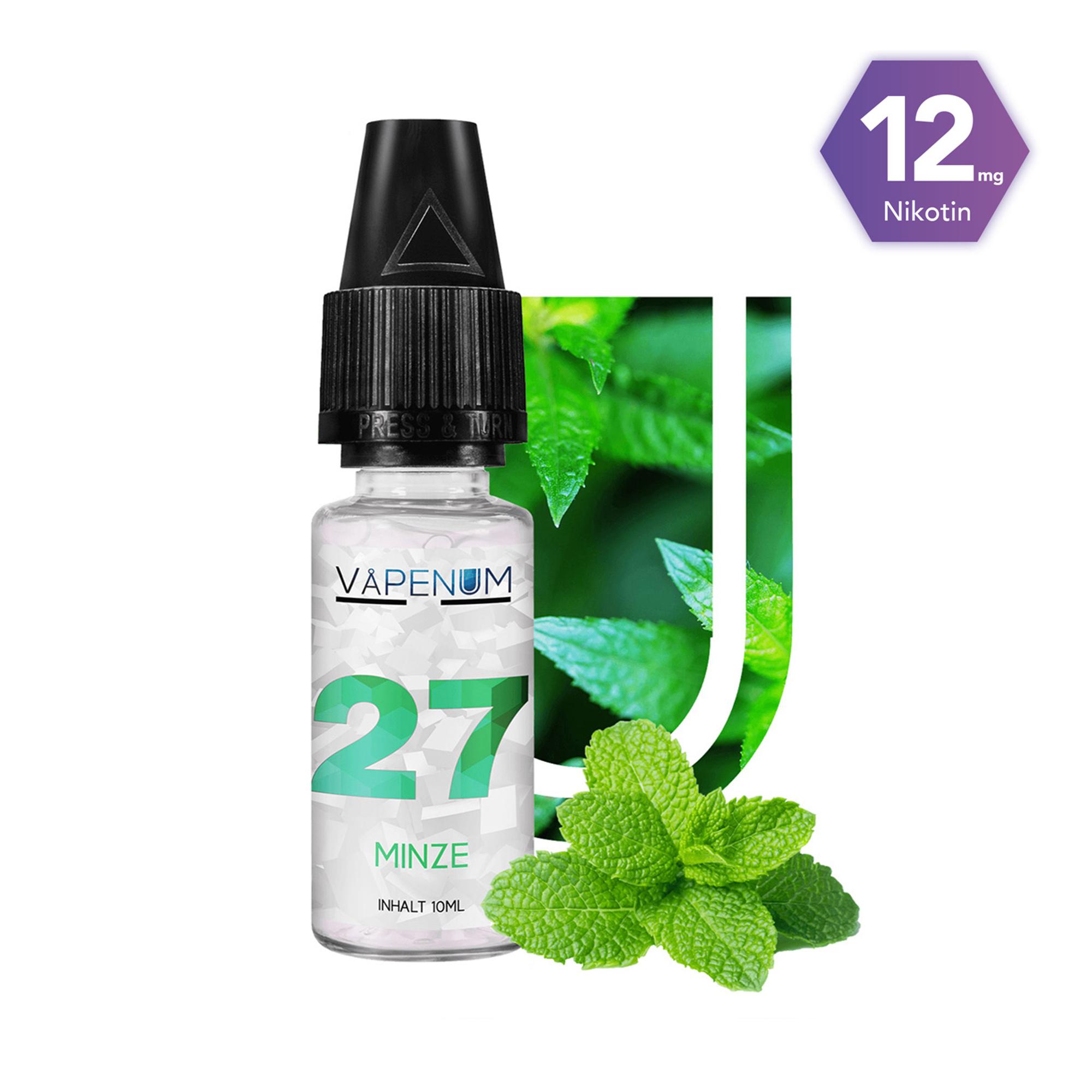 27 - Minze Liquid by Vapenum 12mg