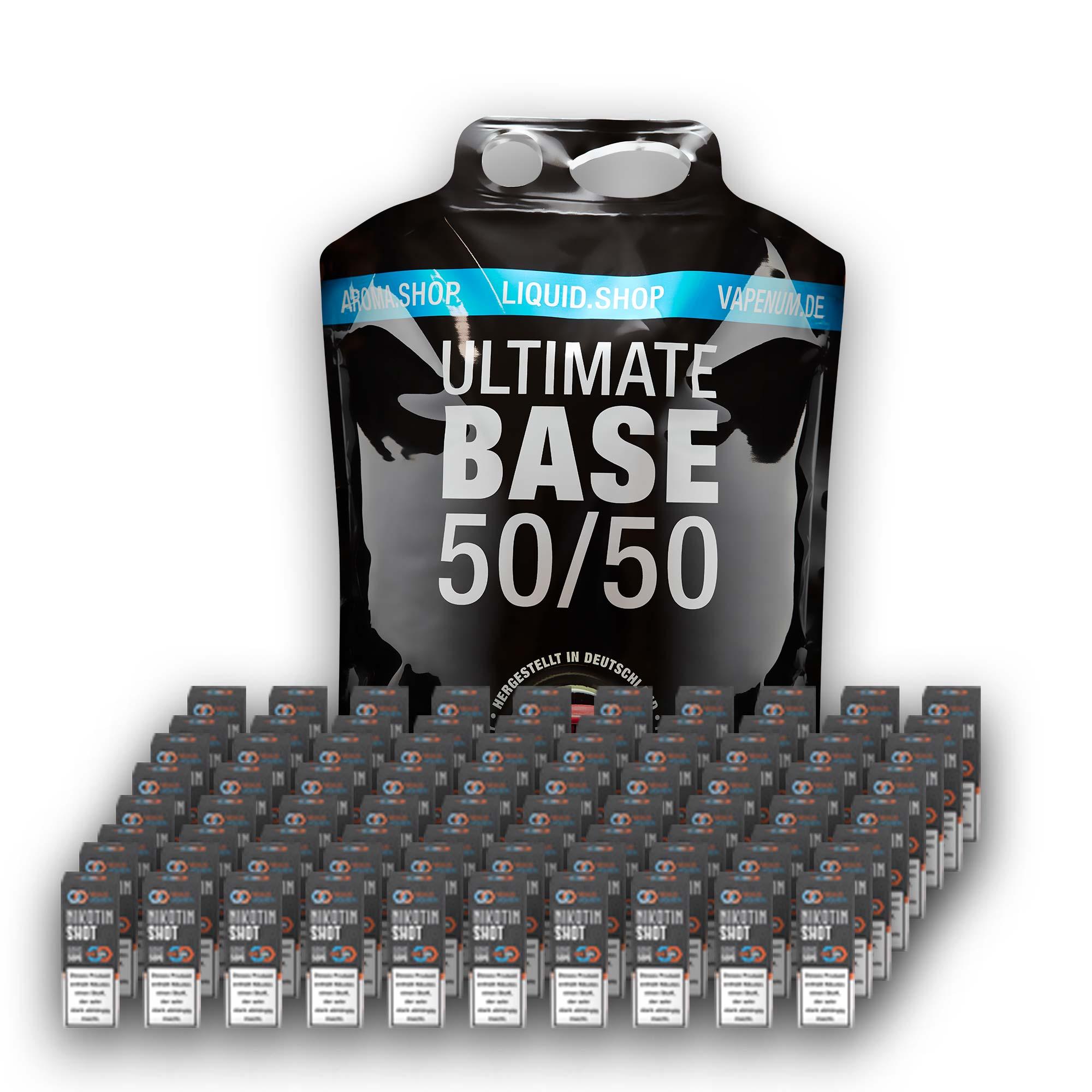 3L Ultimate Base (50/50) inklusive 80 Nik Shots 18mg