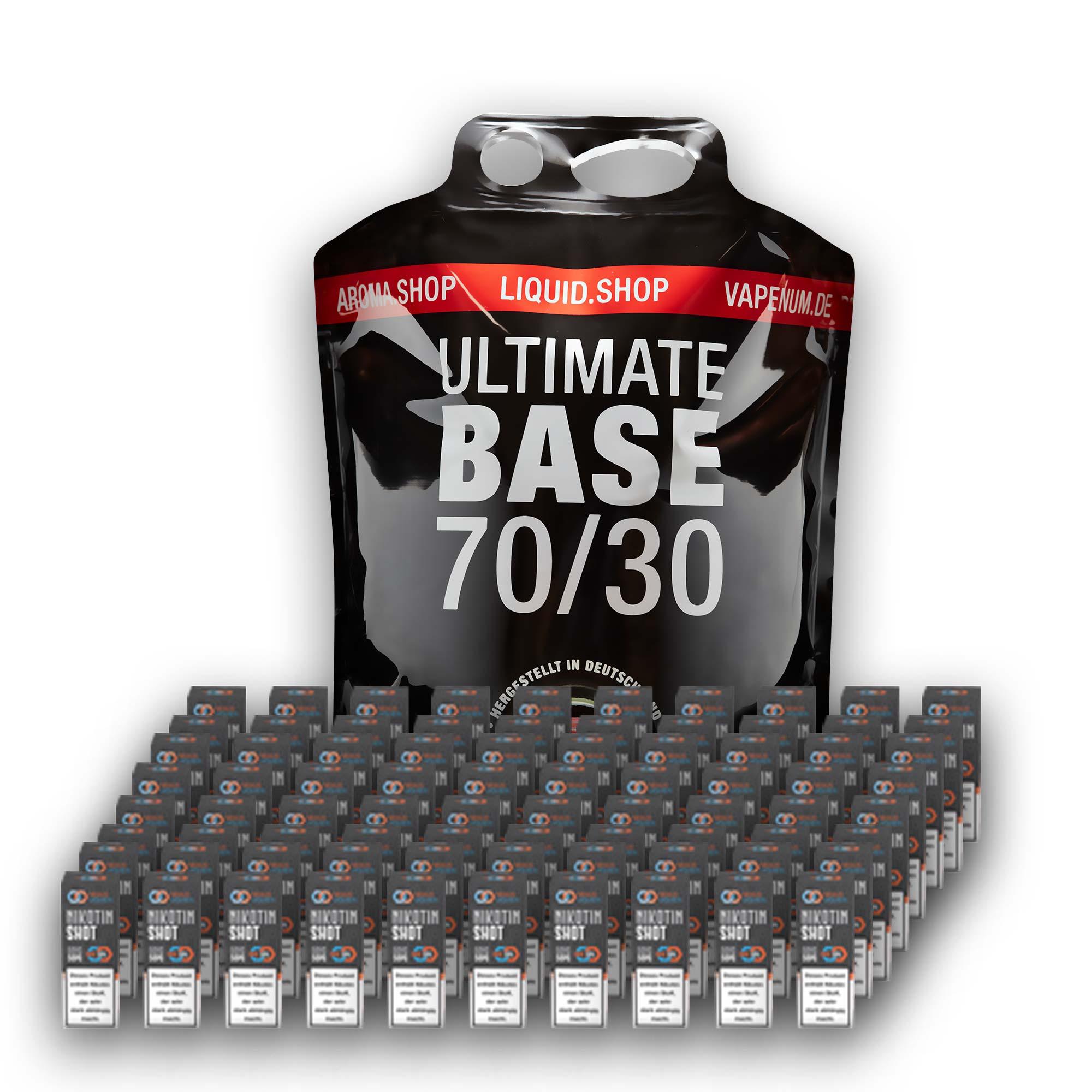 3L Ultimate Base (70/30) inklusive 80 Nik Shots 18mg